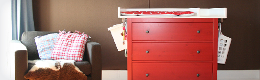 Wickeltischaufsatz für Ikea Kommode selberbauen