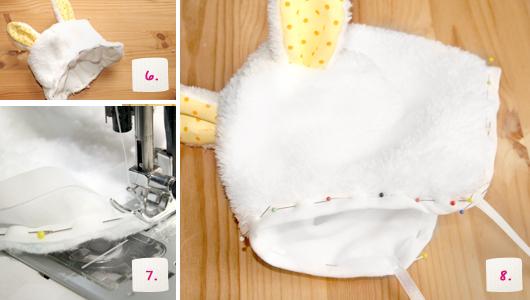 Nähprojekt Babymütze mit Hasenohren selber nähen | kullaloo