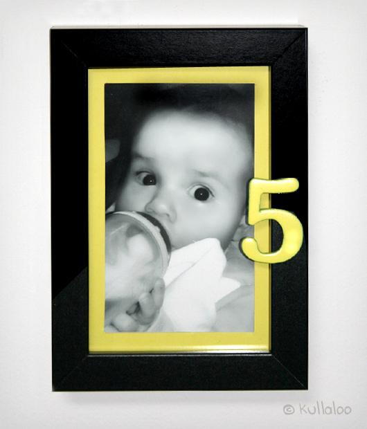 """Baby Bilderrahmen """"Mein ersten 12 Monate"""" basteln – Ergebnis"""