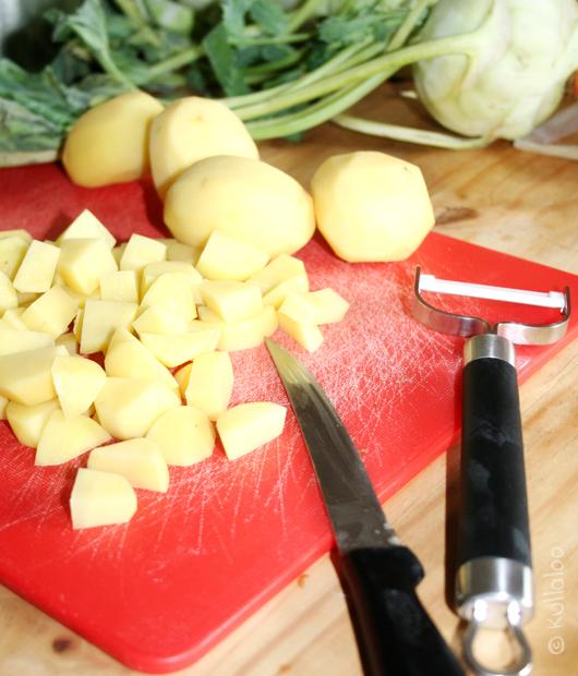 Babybrei selber machen - Kartoffeln schälen