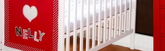 Babybett verschönern mit Namens-Dekoration - Artikelbild