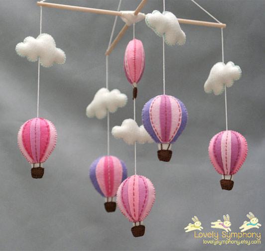 Hot Air Balloons Mobile Decor