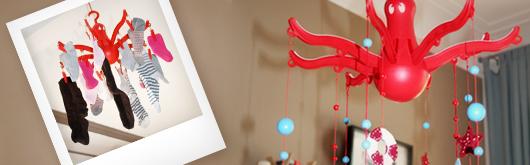 Baby Mobile selber machen aus einer IKEA Wäschespinne - Artikelbild
