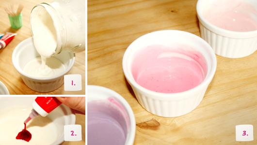 Rezept gefrorene Joghurt-Herzen am Spieß - Schritt 1-3