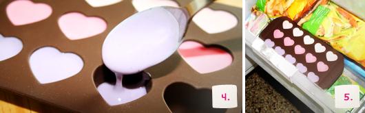 Rezept gefrorene Joghurt-Herzen am Spieß - Schritt 4-5