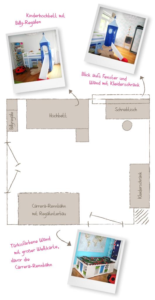 Projekt Jungs-Mädchen-Kinderzimmer: Der Ist-Stand - Grundriss