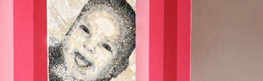 Knopfbild: Ein Portraitbild aus Knöpfen - Artikelbild