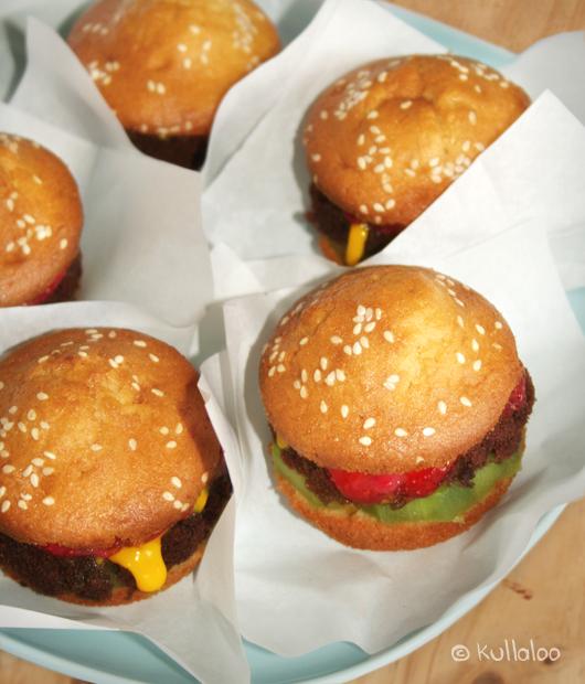 Kinder Muffins: Rezept für Hamburger Muffins - Serviervorschlag