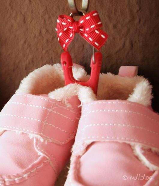 Aufhängung für Babyschuhe - Details