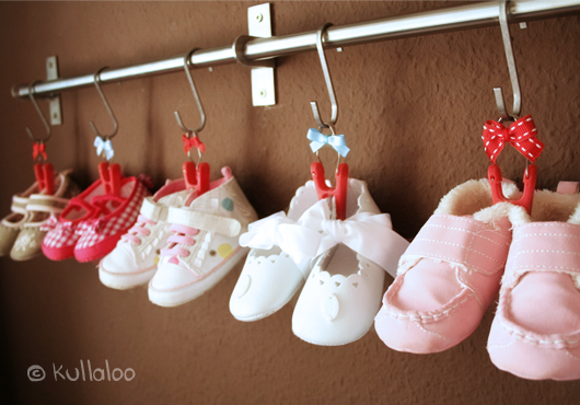 Aufhängung für Babyschuhe - Ergebnis