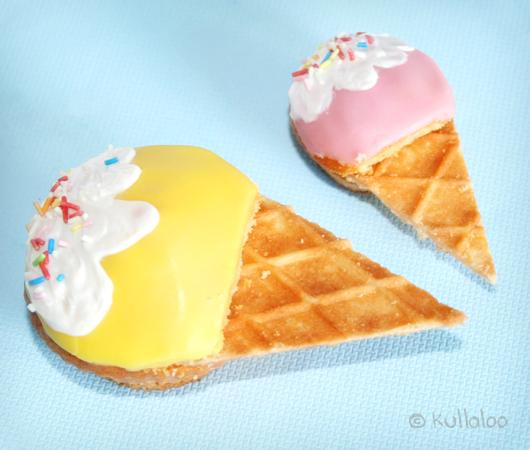 Kinder Muffins mit Eiswaffel - Ergebnis