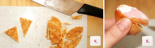 Kinder Muffins mit Eiswaffel - Schritt 4-5