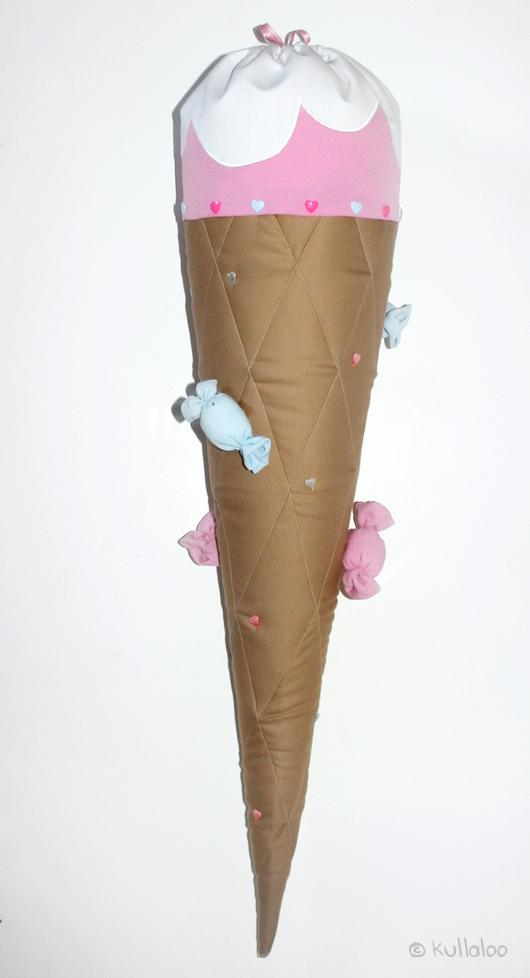 Schultüte selber machen: Eistüten-Look - Bonbons aus Stoff