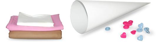 Schultüte selber machen: Eistüten-Look - Material