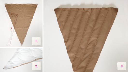 Schultüte selber machen: Eistüten-Look - Schritt 1-3