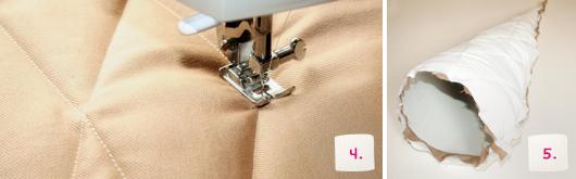 Schultüte selber machen: Eistüten-Look - Schritt 4-5