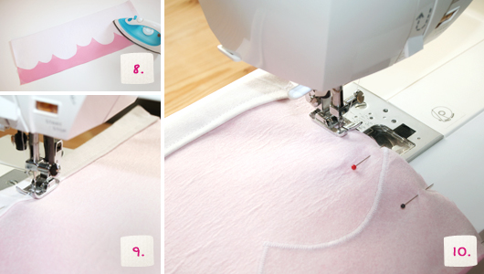 Schultüte selber machen: Eistüten-Look - Schritt 8-10