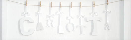 Taufgeschenk selber machen: Bilderrahmen mit Name - Artikelbild