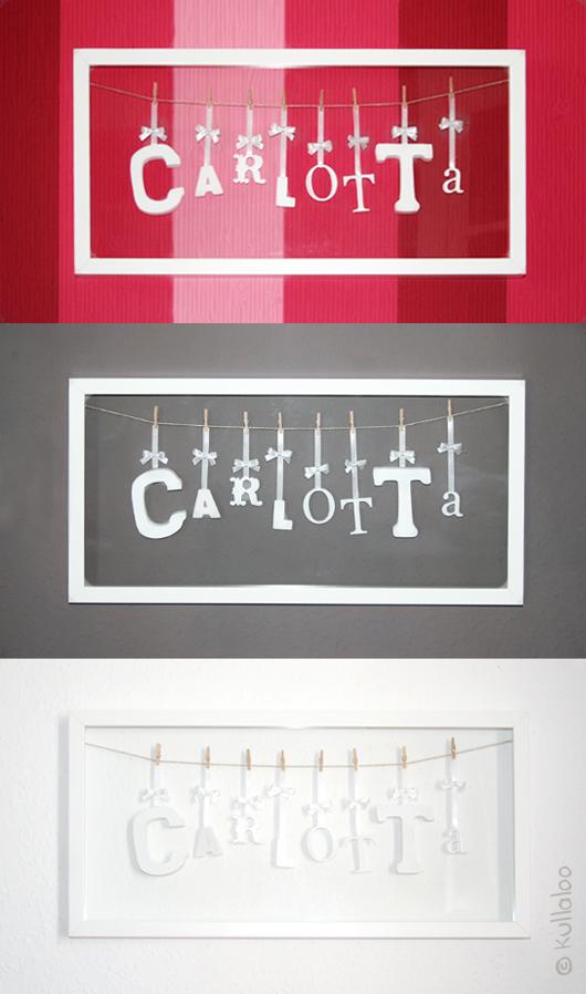 taufgeschenk selber machen bilderrahmen mit namen kullaloo. Black Bedroom Furniture Sets. Home Design Ideas