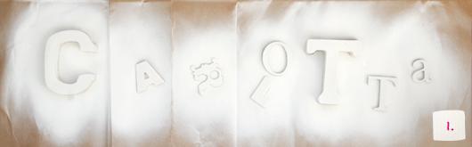 Taufgeschenk selber machen: Bilderrahmen mit Name - Schritt 1