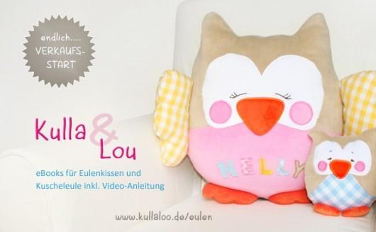 Nähprojekte für Kinder: Stofftiereulen Kulla & Lou als eBook Anleitungen mit Schnittmuster