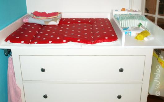 Selbsgebauter Wickeltischaufsatz für HEMNES Kommode: Rückbau bzw. Umbau - weiße Kommode Details