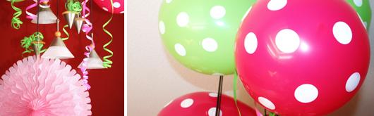 Erster Geburtstag - Ballons und Luftschlangen