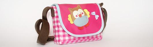 """Kindergartentasche """"Little Betty"""" mit Eulenapplikation - Artikelbild"""
