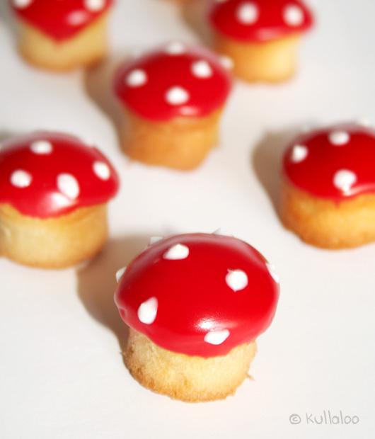 Rezept für Kinder Muffins Pilzform - Als Pilz dekorieren