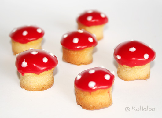 Rezept für Kinder Muffins Pilzform - Muffins Halloween