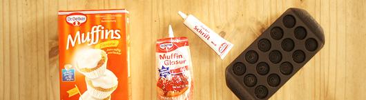 Rezept für Kinder Muffins Pilzform - Zutaten