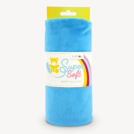 Minky Stoff blau - SuperSoft SHORTY