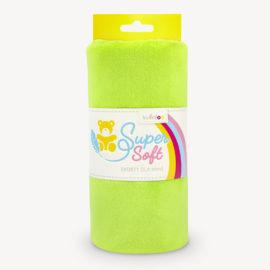 Minky Stoff hellgrün - Plüschstoff grün SuperSoft SHORTY