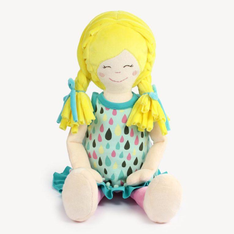 """""""LULU"""" Puppe nähen aus kuschligem Plüschstoff"""