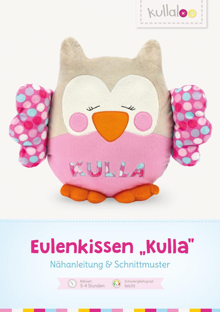 "Schnittmuster Eulenkissen Eule ""Kulla"" Cover Nähanleitung"