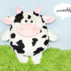 Schnittmuster Kuscheltier Kuh Laurella