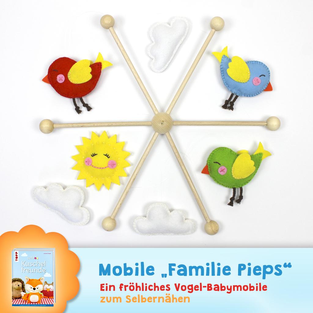 "Schnittmuster Babymobile ""Familie Pieps"""
