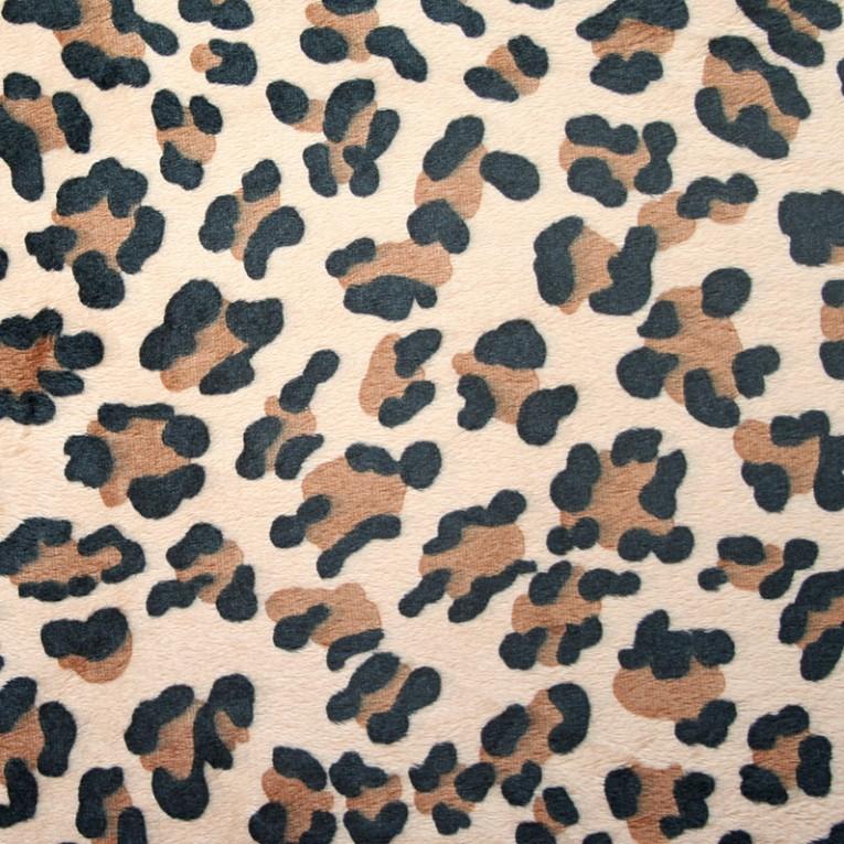 pl sch leoparden muster braun pl sch meterware kullaloo. Black Bedroom Furniture Sets. Home Design Ideas