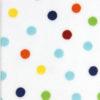 Plüsch Punkte Muster bunt auf weiß Größenvergleich