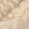 Microfaserplüsch Rosenstruktur Minky Polyester beige