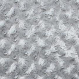 Rosenplüsch grau silber