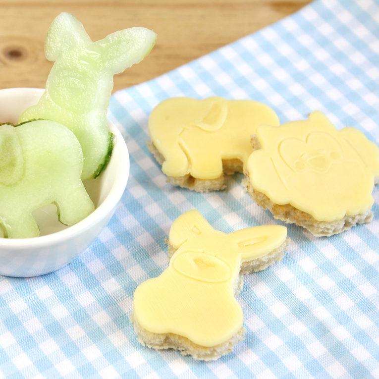 "Kinder Backset: Gesunde ""Plätzchen"" mit Toast & Käse"