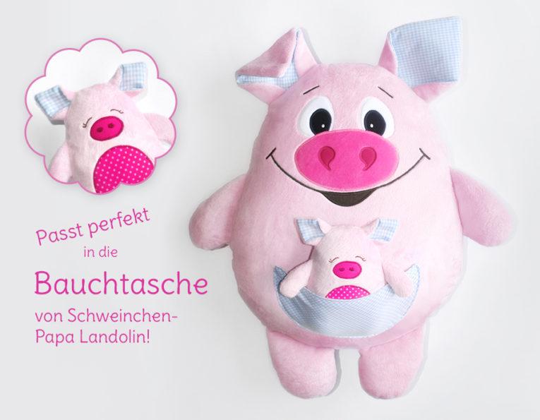 """Kuscheltier Schweinchen Schnittmuster """"Landolinchen"""""""