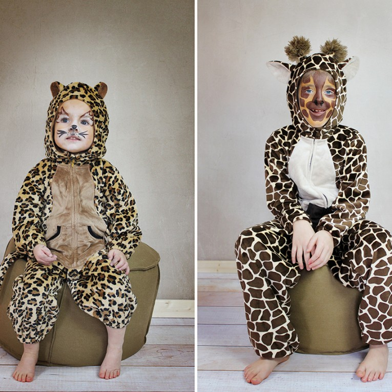 Schnittmuster Overall Tierkostuem Giraffe und Leopard