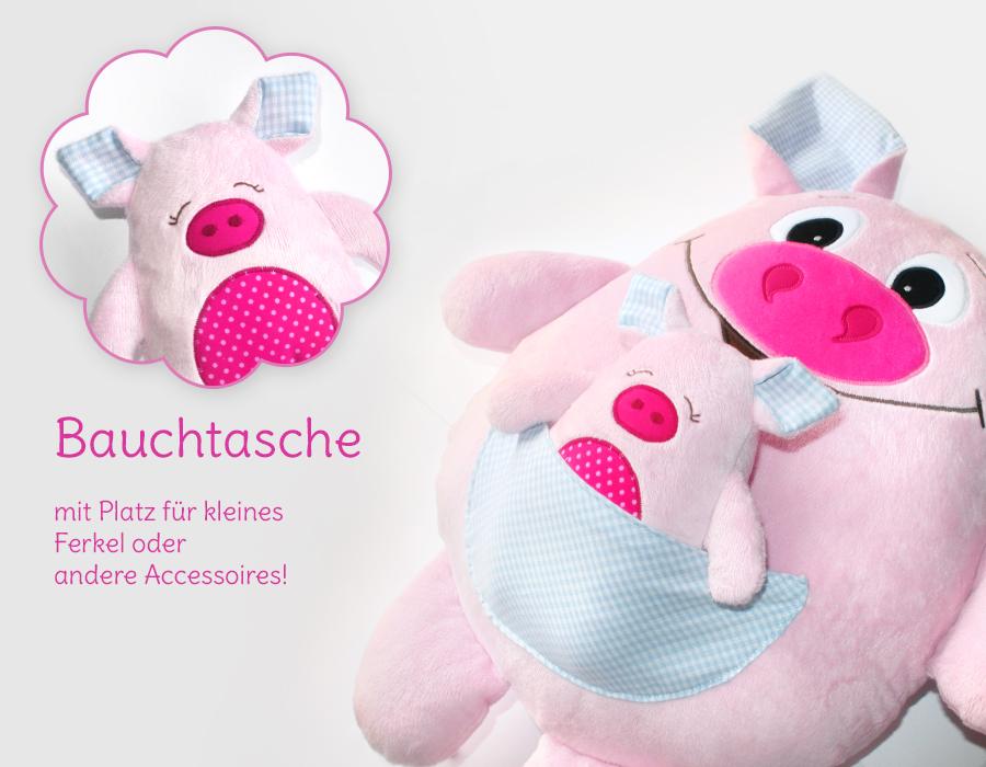 Nähanleitung Schweinchen Kuscheltier | kullaloo