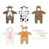 Schnittmuster Tierkostüm Overall Tier-Varianten