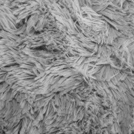 Zottelplüsch grau silber