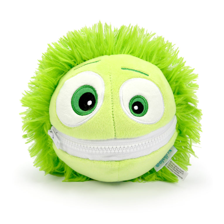 Cooler Kuller Kuscheltier grün 15cm mit geschlossenem Mund