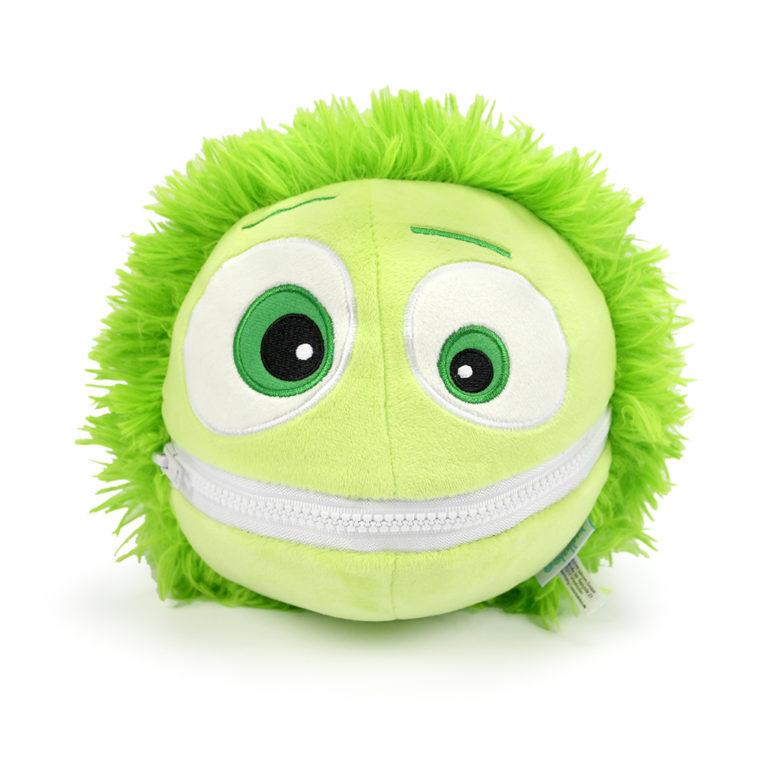 Cooler Kuller Kuscheltier grün 20cm mit geschlossenem Mund