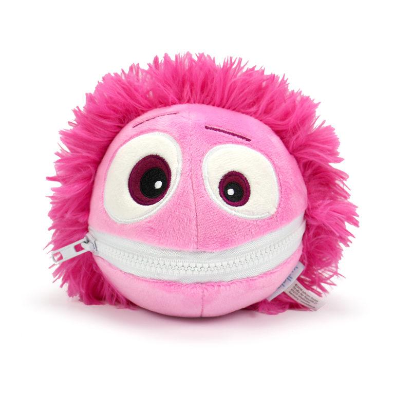 Cooler Kuller Kuscheltier pink 15cm mit geschlossenem Mund